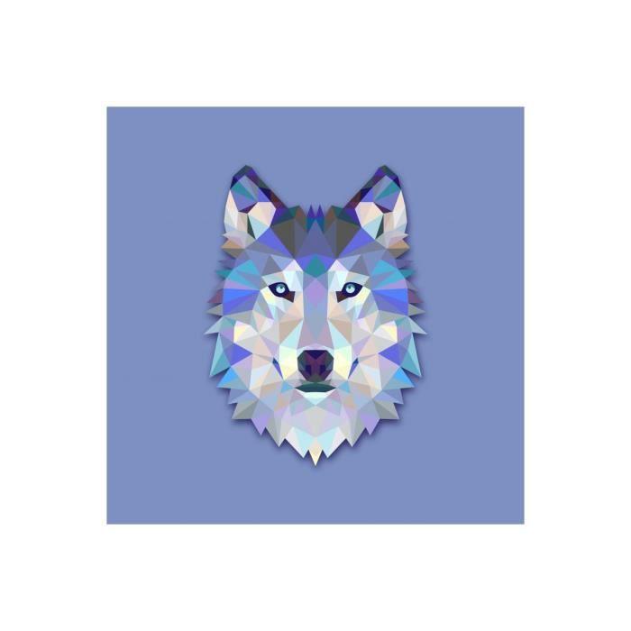 Tableau Animal Design Blue Wolf 50x50 Declikdeco Achat Vente