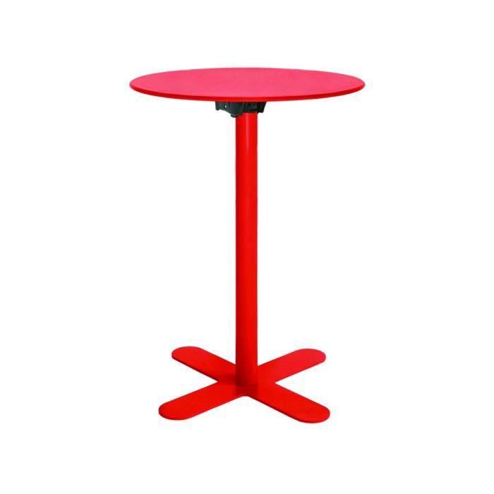 Table haute de jardin design San Mateo D60 Couleur Rouge - Achat ...