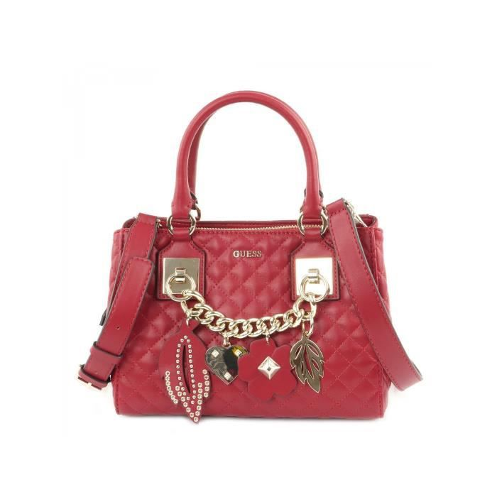 af316eacb4 Guess Sac Stassie Society Rouge - Achat / Vente Guess Sac Stassie ...