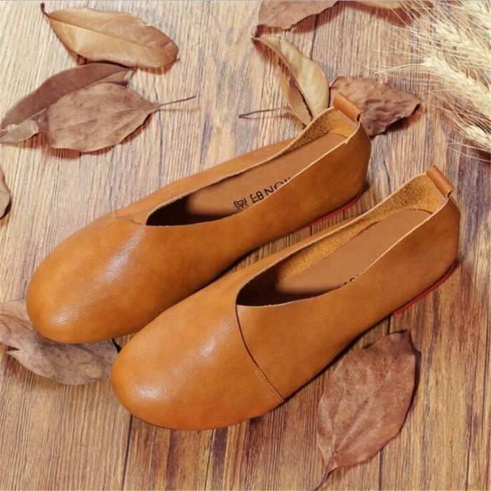 Loafer femme en cuir véritable Marque De Luxe Mode Confortable Femmes Moccasins Grande Taille Chaussures femmes Nouvelle Mode 2017 joWPF
