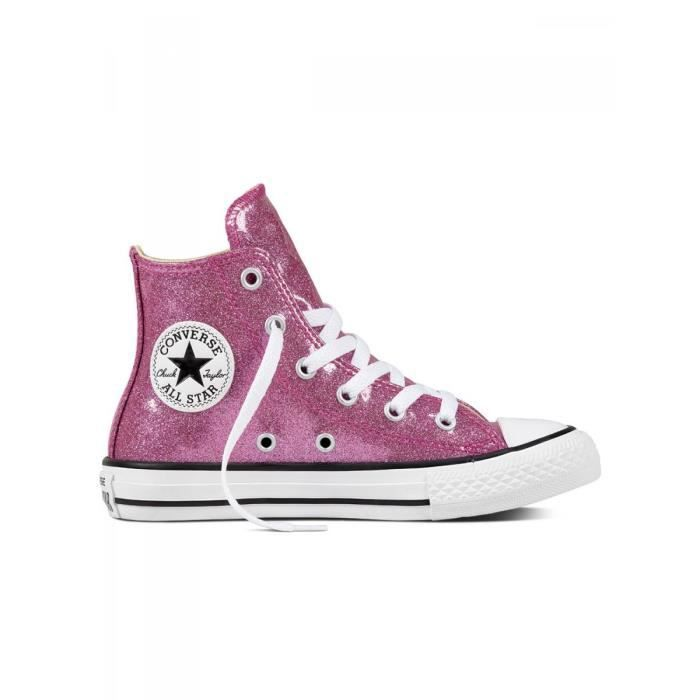d5706ab34477f CONVERSE - Baskets chuck taylor all star glitter rose enfant fille ...