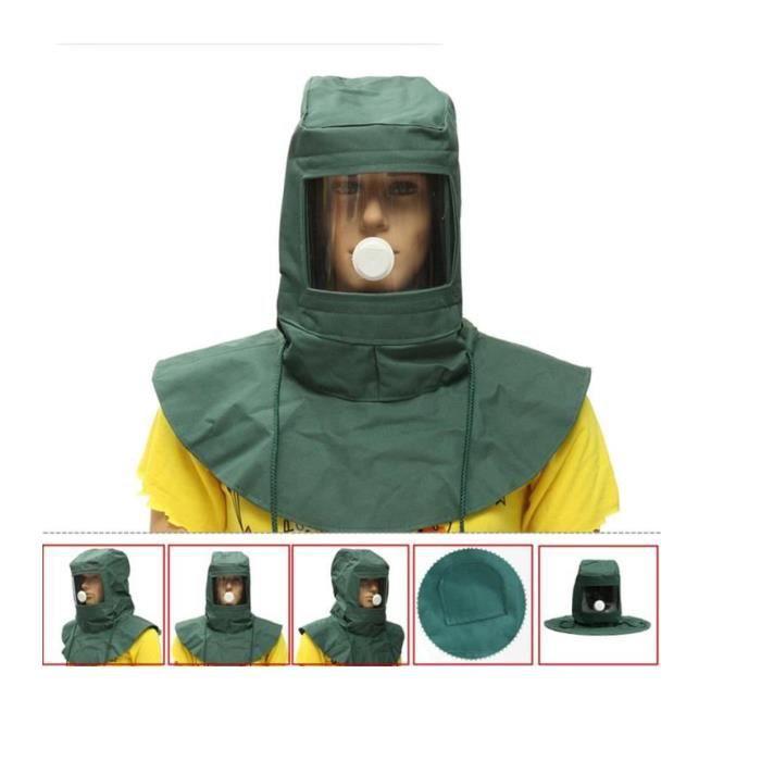 CASQUE Masque Protection Sablage Sableuse Sable Abrasif A