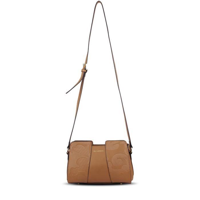 Ted Lapidus - Zoey -sac à main femme porté bandoulière en vinyl - TLUT8303 - Couleur