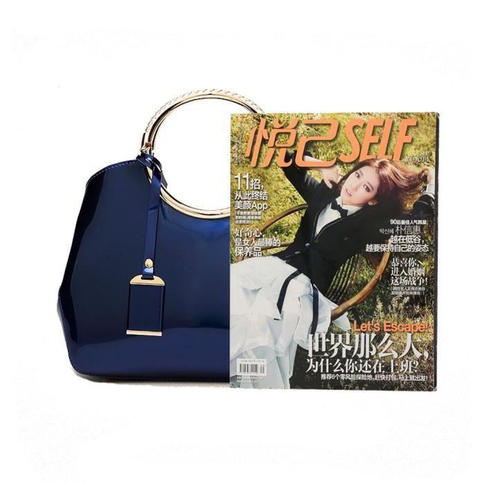 sac à main de luxe en cuir verni pur sac de mode grand fourre-tout brillant sacs à bandoulière HASVS