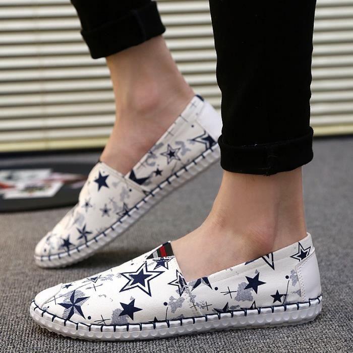 d'été Casual Mesh pour les Lightweight hommes On Graffiti Slip homme Chaussures Mode design pour New Chaussures plates Chaussures 64XqaC6x