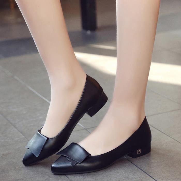 Chaussure Femmes Printemps Été Comfortable Faible Talon Chaussures BTYS-XZ069Noir35