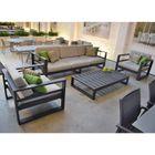 Salon de jardin 5 places en alu anthracite Azuro - Achat / Vente ...