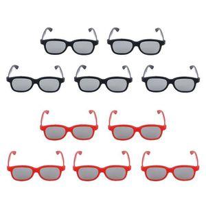 LUNETTES 3D 10 x Lunettes 3D Passives Lentille Polarisée Circu c36d412b7571
