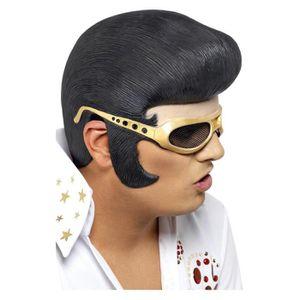 Elvis perruque avec une partie avant et Lunettes - Achat   Vente ... 8f287d9f4961