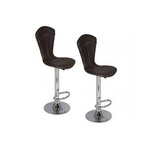 TABOURET Lot de 2 chaises de bar BEAUTIFUL noires