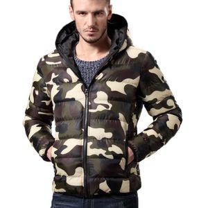 DOUDOUNE Doudoune Homme Encapuchonné Camouflage Vêtements V