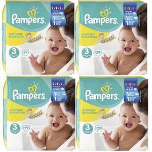 COUCHE Pampers Premium Protection Taille 3 Midi 5-9kg 29