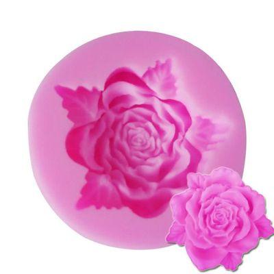 Moule Silicone 3d Fleur Rose Ouverte Patisserie Gateau Anniversaire