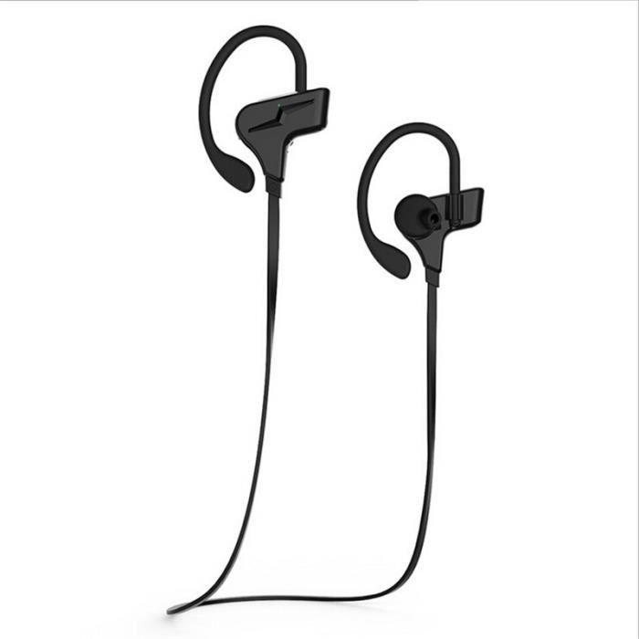 Ecouteurs Sans Fil Bluetooth De Marque Luxe Ecouteur Sport Nouvelle Mode Haut Qualité Noir