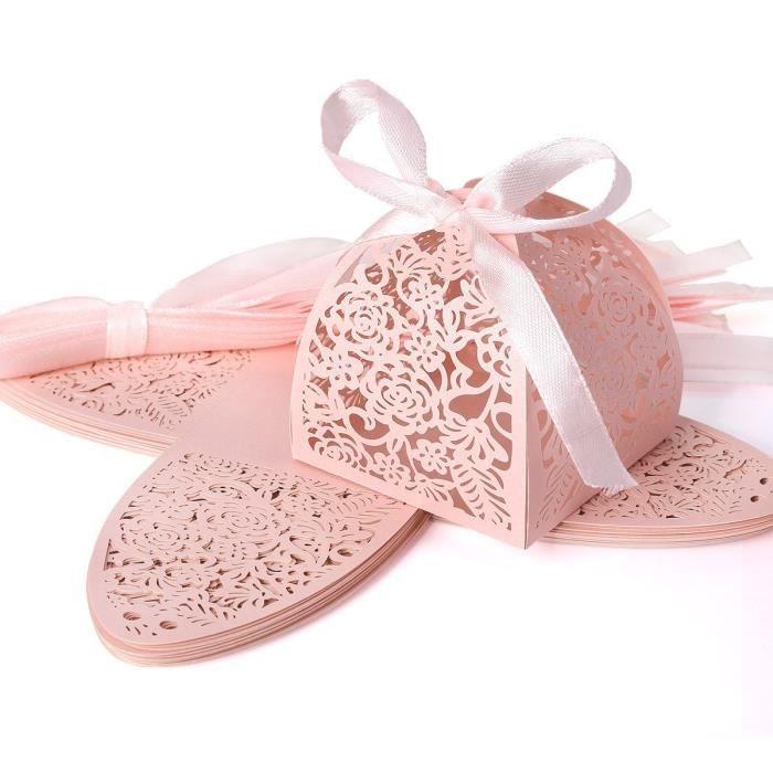 25psc bo te cisel fleur de bonbons bo te drag e de cadeau pour mariage ou anniversaire - 1 an de mariage idee cadeau ...