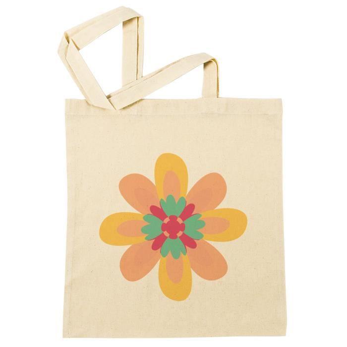Bag Coton À Reusable Beach Plage B 45255 Sac Provisions Fleur Réutilisable Shopping g07Inqxd