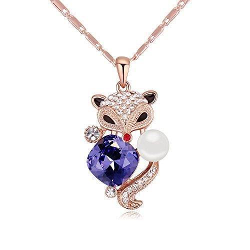 Cristaux Swarovski et Preciosa Strass Collier diamant pendentif de femmes. Tous les jours - Tenues de soirée Fashio J4PW6