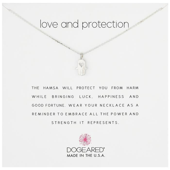 Dogeared Love And Protection Heart Hamsa 16 Boxed Reminder Necklace IQHXK