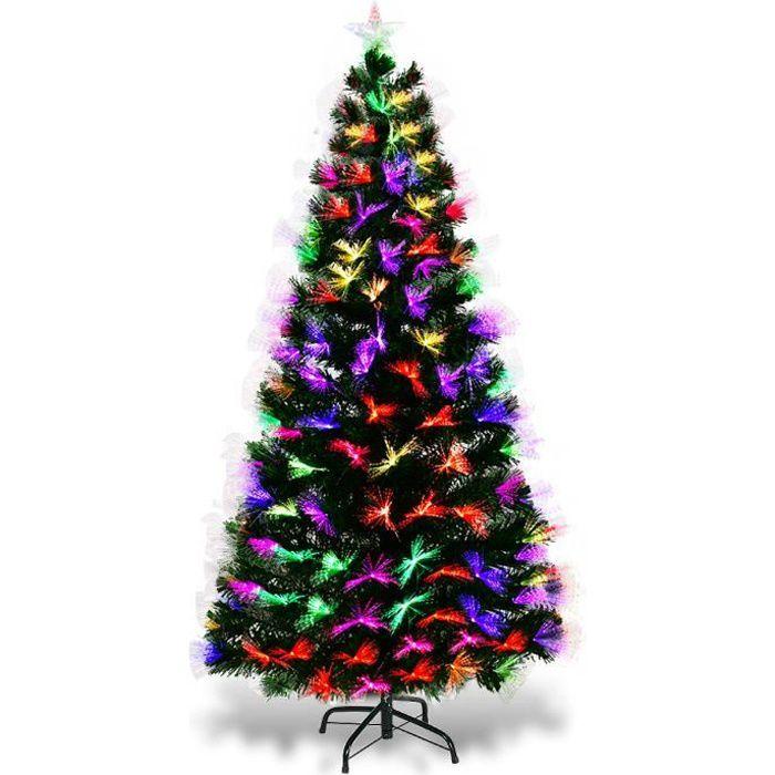 855863d13ecc6 SAPIN - ARBRE DE NOËL Sapin de Noël Artificiel Lumineux de 150 cm avec F
