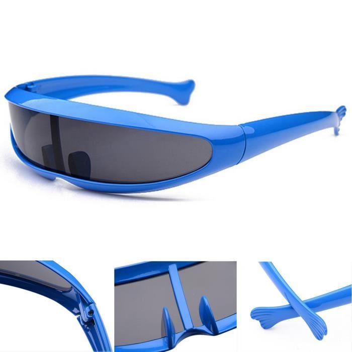 100% UV400 lunettes de soleil de dauphins unisexe, style sportif, bleu