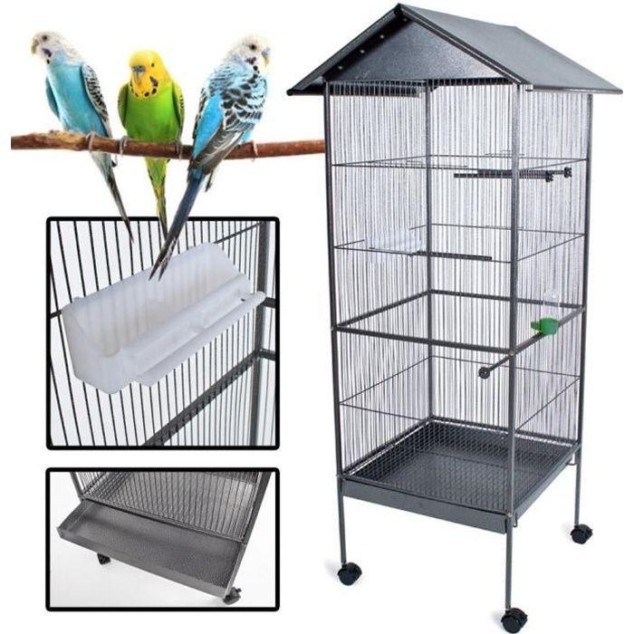 VOLIÈRE - CAGE OISEAU POILS & PLUMES OISEAU Cage à oiseau KUIKUI en méta