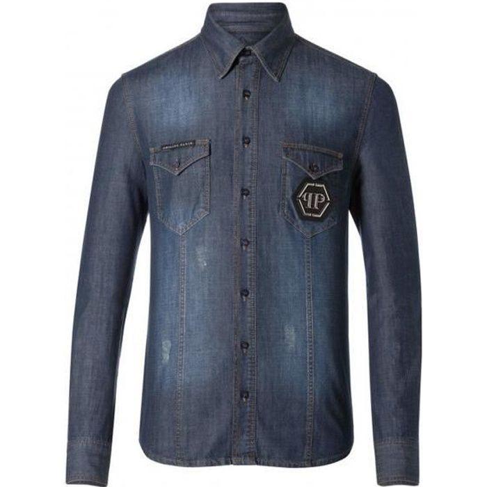 271c41057cec3 PHILIPP PLEIN chemise en jeans