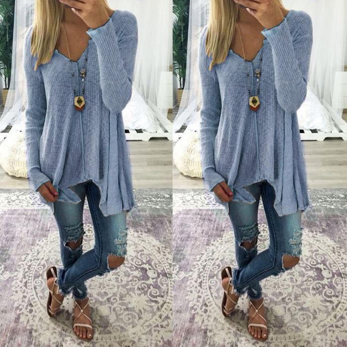 ea9ac711f650f T shirt oversize femme - Achat / Vente pas cher