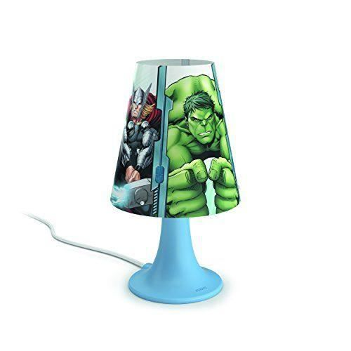 philips 717953616 lampe de chevet led motif avengers rouge achat vente philips 717953616. Black Bedroom Furniture Sets. Home Design Ideas