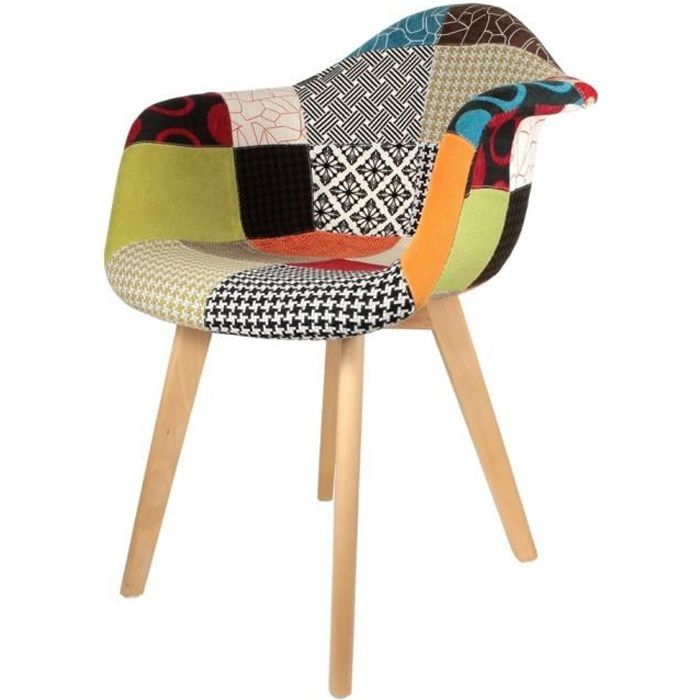 Chaise Design Scandinave Patchwork Urbantrottcom - Cdiscount fauteuil scandinave