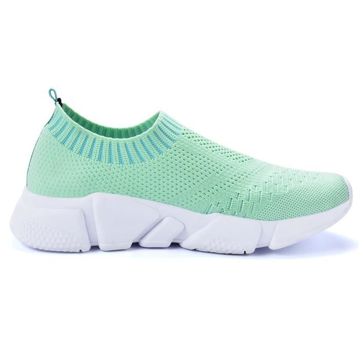 Slip On Sneaker Mesh oisif Casual Beach Street Sport Chaussures de marche UEBHQ Taille-42