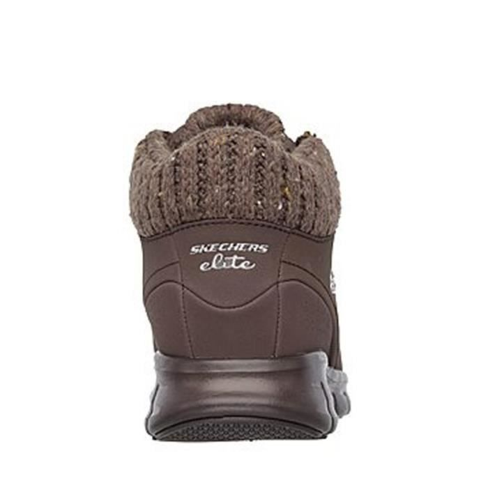 SKECHERS Bottines- Lacets - Cuir - Chocolat - Taille - Quarante Femme Ref. 2238_22069