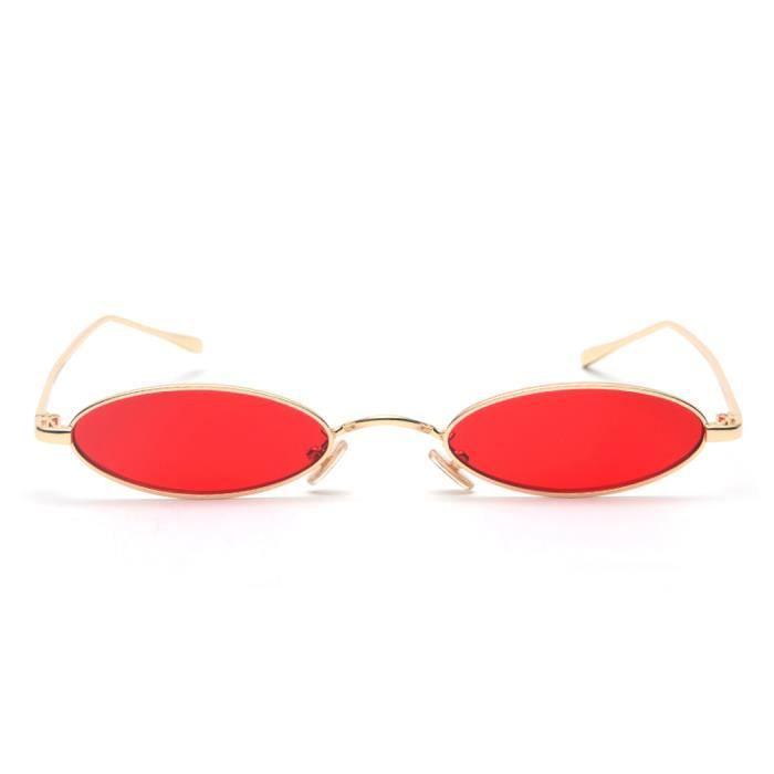 Lunettes de Soleil Ovale mini Unisexe Rétro Rond Miroité Métal Moderne Vogue pour Femmes homme-06