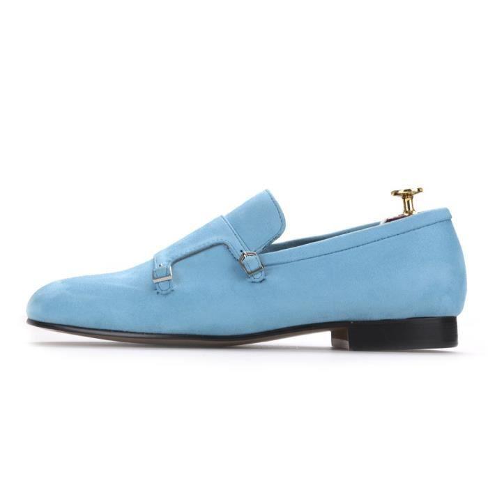 2017 Party Hommes Velvet Shoe avec Velvet Moraillon et Banquet homme Souliers simple style britannique Hommes Mode Mocassins Plus
