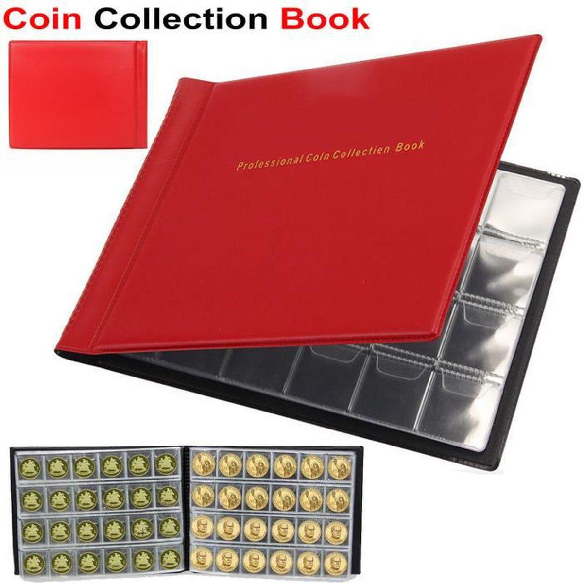 Bleu sharprepublic 2pcs 120 Titulaires pour Penny Money Pocket Pi/èces De Stockage Album Collection De Livres