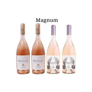 VIN ROSÉ Lot de 4 Magnum Chateau D'Esclans Côtes de Provenc