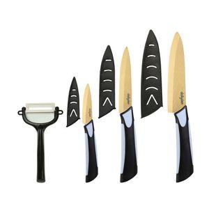 COUTEAU DE CUISINE  lot de 4 Pcs couteaux céramique titanium