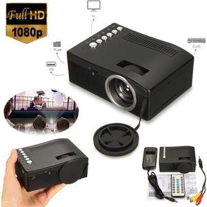 Vidéoprojecteur Vidéo Projecteur HD LED Mini WiFi 1080P UC18 Proje