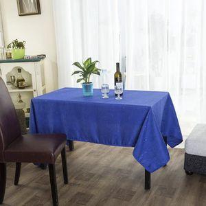 NAPPE DE TABLE Nappe rectangulaire 140x240 cm bleu