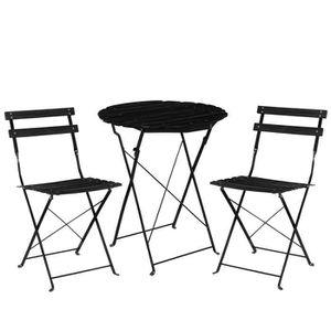 CasaproR Kit De Bistro Set Table 2 Chaise Meuble Du Jardin Balcon