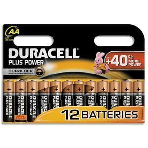 PILES DURACELL 12 piles Alcalines 1,5V AA LR06 ouvert…