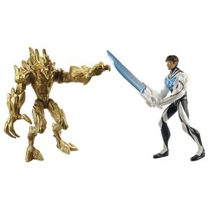 FIGURINE - PERSONNAGE MAX STEEL Pack Combat Epee Turbo Vs Elementor