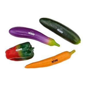 DINETTE - CUISINE NINO Assortiment de 4 Shakers Légumes
