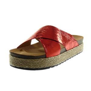 049ce50cf8a11 SANDALE - NU-PIEDS Angkorly - Chaussure Mode Sandale Mule slip-on eff