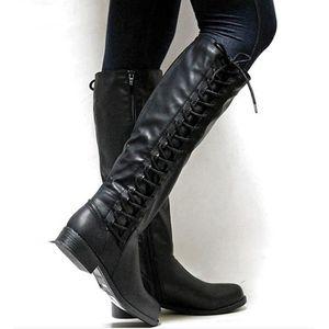 BOTTE Bottes Cuissardes de Femme Chaussures plates à Tal