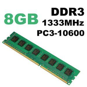 MÉMOIRE RAM NEUFU 8 GO GB Mémoire RAM DDR3 PC3-10600 1333 MHz