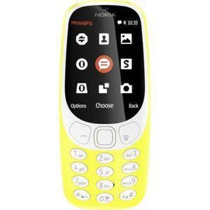 Téléphone portable Téléphone portable double SIM 2.4 pouces 3310 jaun