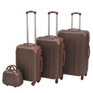 SET DE VALISES 4 pcs Ensemble de valises à roulettes quatre pièce