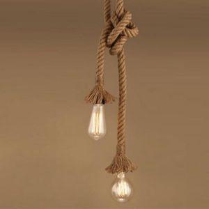 LUSTRE ET SUSPENSION 1PCS 2Têtes E27 Vintage Style Rustique Luminaire R