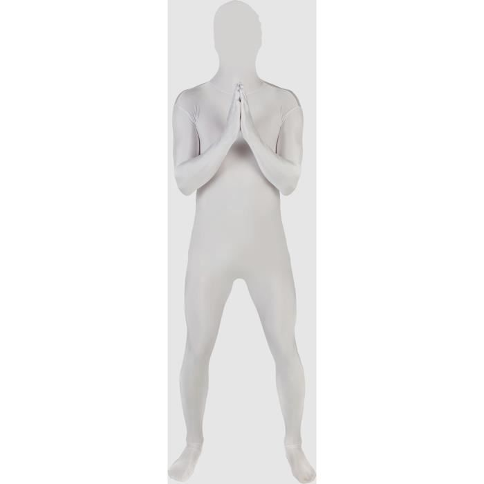 AMSCAN Costume Adulte Partysuit Blanc