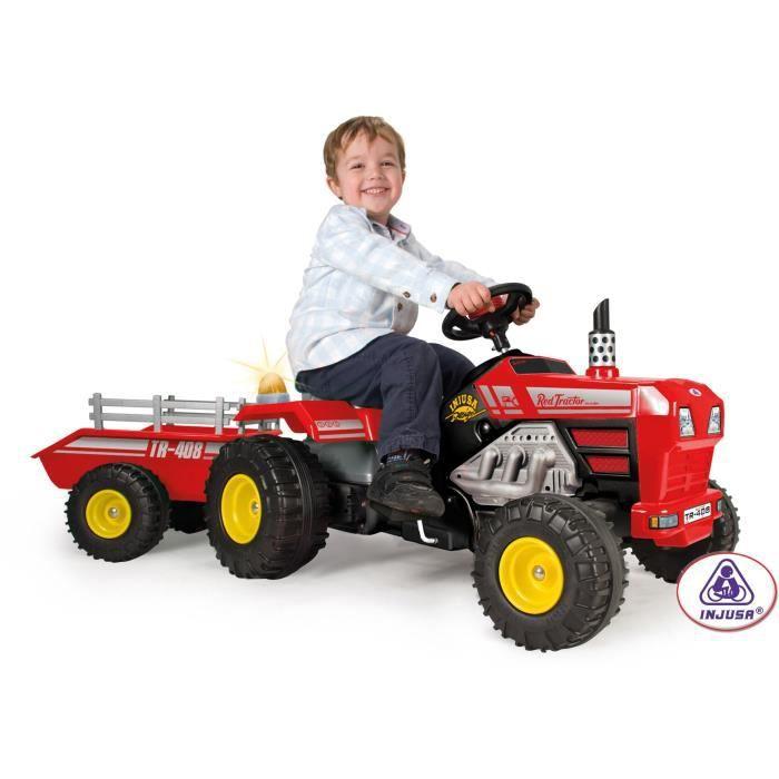 INJUSA Tracteur à Pédales avec Remorque